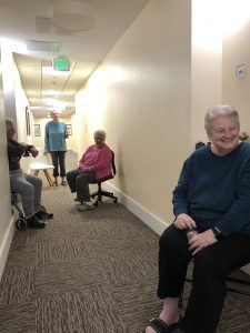 residents social distancing